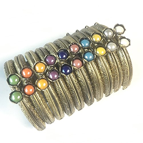 GuoFa Metal Frame Purse Coin Bag Kiss Clasp Lock DIY Craft Assorted Lotus Bead 8.5X5.8CM