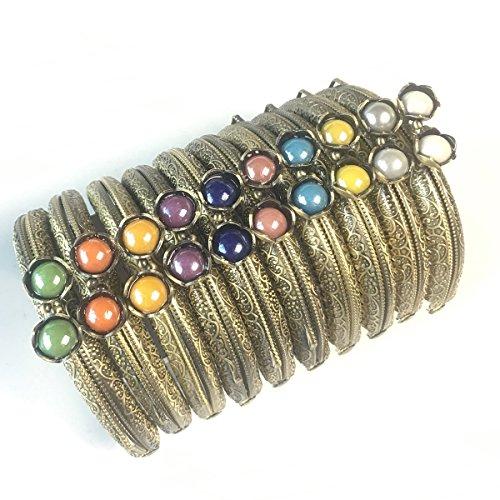 GuoFa Metal Frame Purse Coin Bag Kiss Clasp Lock DIY Craft Assorted Lotus Bead 8.5X5.8CM by Guo Fa