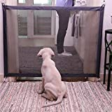 Leegoal Magic Gate Pet Safety Guard, Plastic Dog Portable Folding Enclosure Install for Kitchen Stairs, Pet Dog Isolated Fences