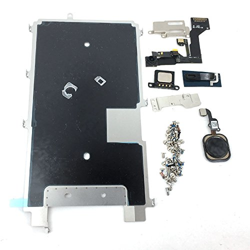 E-repair Screen Metal Bracket Front Camera Flex Cable Small Parts Set Replacement for Iphone 6S 4.7'' (Black)
