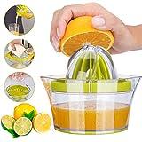 Citrus Lemon Orange Juicer, Manual Hand Squeezer, 4 in 1 Multi-function Manual Juicer with Multi-size Reamers, Egg Yolk Separator, Ginger Garlic Grater, Large Capacity Measuring up 12OZ, Benpumhzdl