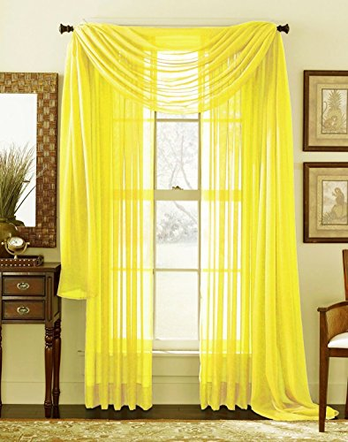 2 panel yellow curtains - 2
