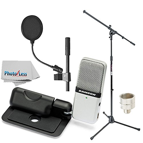 Samson Go Mic Portable USB Condenser Microphone Bundle with