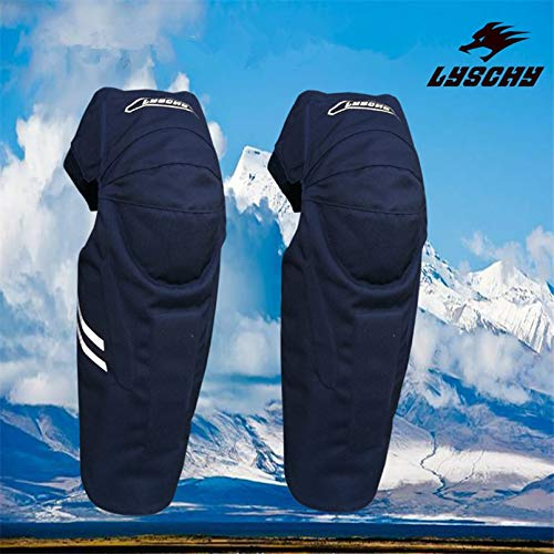LUZE Motorcycle Protective Kneepad - Winter CE Thickened Motocross Knee Pads Motorcycle Cycling Knee Protector Pad Winter Skiing Sports Guard Adjustable Belt Kneepad 1 PCs ()