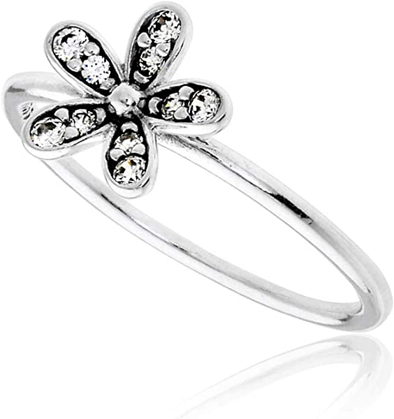 8421ce1ea Pandora Ring Dazzling Daisy with Clear CZ 190932CZ-58 8.5 US, 58 Euro