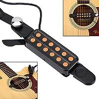 Dilwe 12 Agujero Pastilla de Guitarra Acústica, Magnética Pickup ...