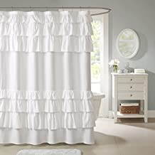 Grace Shower Curtain White 72x72""