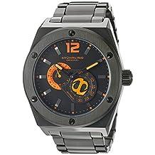 Stuhrling Original Men's Esprit D'Vie Automatic Black Dial Black Pvd Bracelet Watch 281B.335957