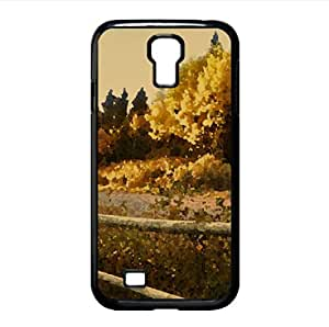 Wooden Fence Along A Road Watercolor style Cover Samsung Galaxy S4 I9500 Case (Autumn Watercolor style Cover Samsung Galaxy S4 I9500 Case) by icecream design