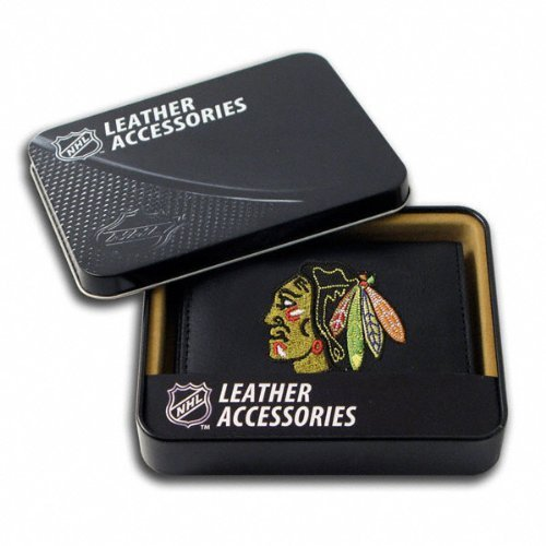 (Rico Chicago Blackhawks Embroidered Leather Tri-fold Wallet)