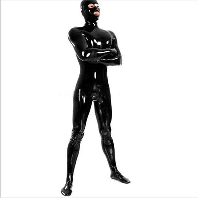 Amazon.com: Traje de hombre de goma de látex 100% con ojo ...
