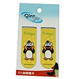 2 Pack Yellow Pingu Magnetic Bookmark Clips