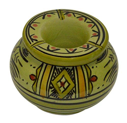 Moroccan Handmade Ceramic Ashtrays Smokeless Cigar Exquisite design with Vivid Colors Small