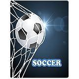 "Blankets Sofa Bed Throw Lightweight Cozy Plush Funny Soccer Football Ball Net 60""x80"""