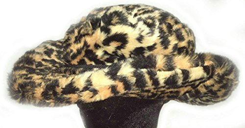 Jaguar Club Cowboy Cheetah Print Pimp Costume Furry Unisex Adult Hat