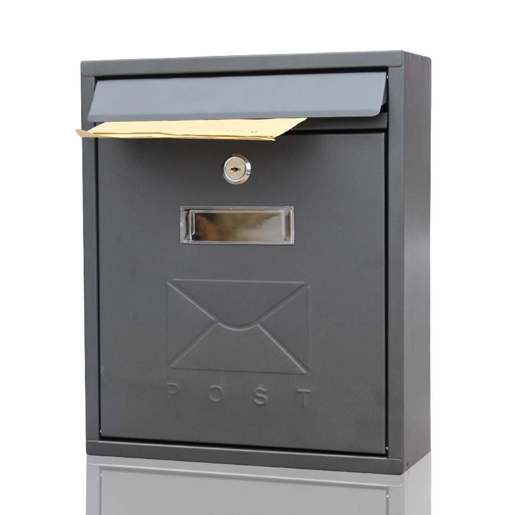 HTDZDX メールボックスレターボックスウォールマウントロック可能なレターポストボックス - 26 * 9.5 * 31センチメートル(長さX幅X深さ)   B07SSWDKXR