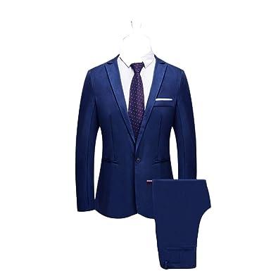 2 Piezas Blazer de Vestir Clásico para Hombre Trajes de Chaqueta ...