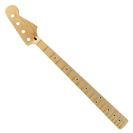 FLEOR guitarra eléctrica Cuello Para Precision Bass Eléctrica para Sustitución de piezas, INJ-002