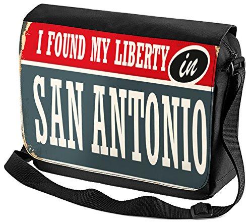 Umhänge Schulter Tasche Fernweh Stadt San Antonio USA bedruckt