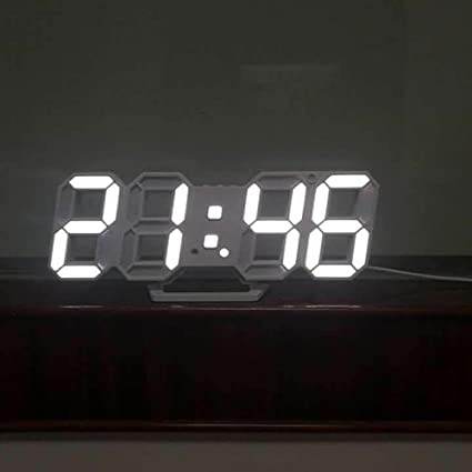 Shuangklei Moda 3D Moderno Reloj De Pared Reloj De Sobremesa ...