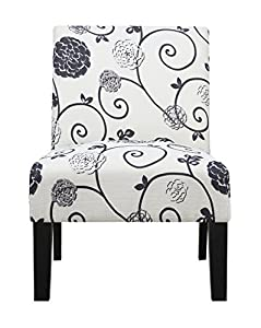 Pulaski Dining Chair In Swirl Floral, Multicolor
