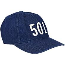 Mens Levis Red Tab 501 Baseball Cap- Navy Denim