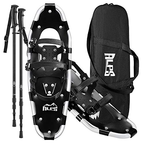 Cheap ALPS Adult All Terrian Snowshoes Set for Men,Women,Youth with Trekking Poles,Carrying Tote Bag14 /17