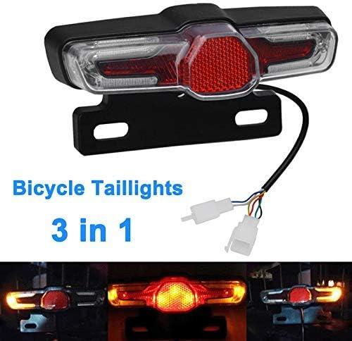 36-48V LED Lumière de frein Éclairage Vélo Bicyclette Lampe Feu Arrière Sécurité