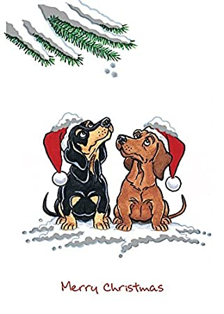 Dachshund Christmas Cards from Xmas Kritters Dog Cards range ...