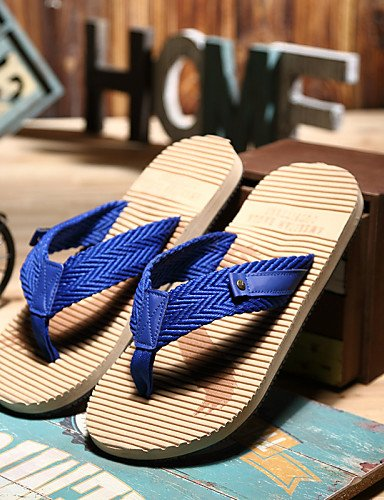 NTX/ Men's Shoes Outdoor / Casual Style Fashion Slip Resistant Linen / Fabric Flip-Flops Blue / Red red-us7.5 / eu39 / uk6.5 / cn40 IqoSS7NK
