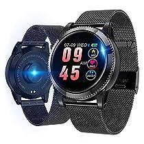 【2018年最新版】スマートウォッチ 活動量計 血圧計 心拍計 GPS軌道 スマートブレスレット 歩数計 ...