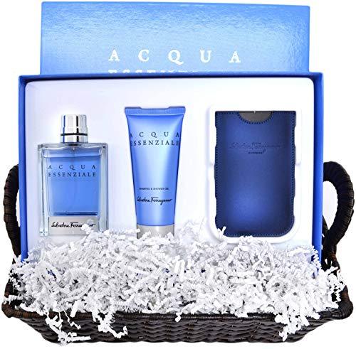 Salvatore Ferragamo Acqua Mens Cologne Essenziale Gift Box - Gift Box Ferragamo Salvatore