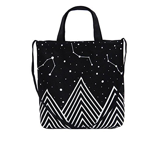 Canvas Tote Bag Black Print Design (16.14 x 15.35 inch) ASAPS
