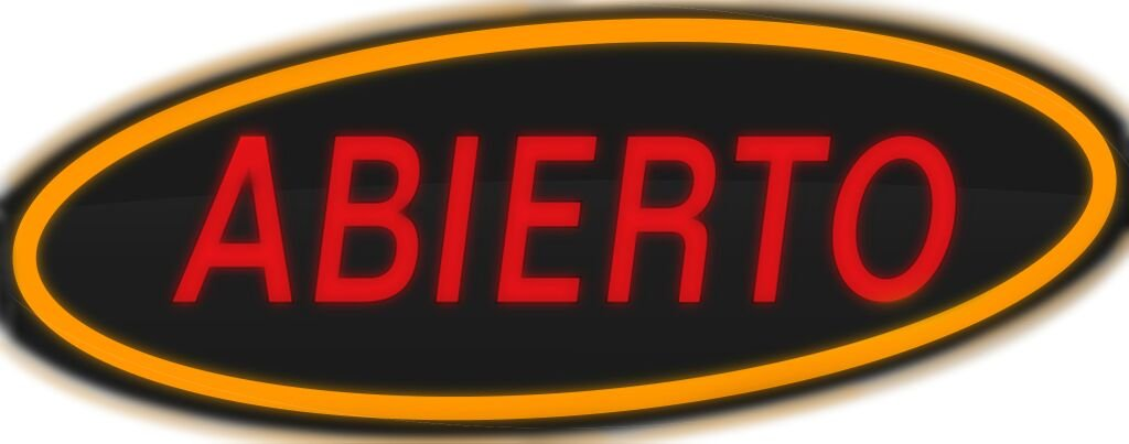 ComeAlong Industries Red and Yellow Heavy Duty LED ''ABIERTO'' Sign, 40-Inch Wide x 16-Inch High by ComeAlong Industries (Image #2)