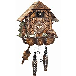 Black Forest Cuckoo Clock with Carved Bears
