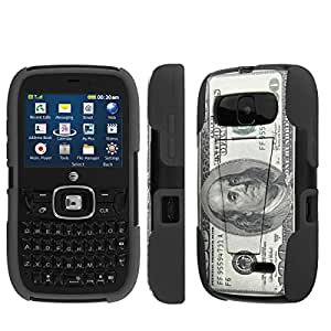 NakedShield ZTE ALTAIR 2 Z432 $100 Bill T Armor Tough Shock Proof KickStand Phone Case