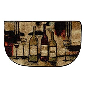"Mohawk Home New Wave Wine & Glasses Rug, 1'6"" x 2'6"", Brown"