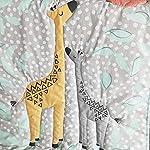 Brandream-Crib-Bedding-Sets-for-Boys-Baby-Nursery-Bedding-Woodland-Giraffe-Family-Dot-Design-Gray-Yellow-8-Piece