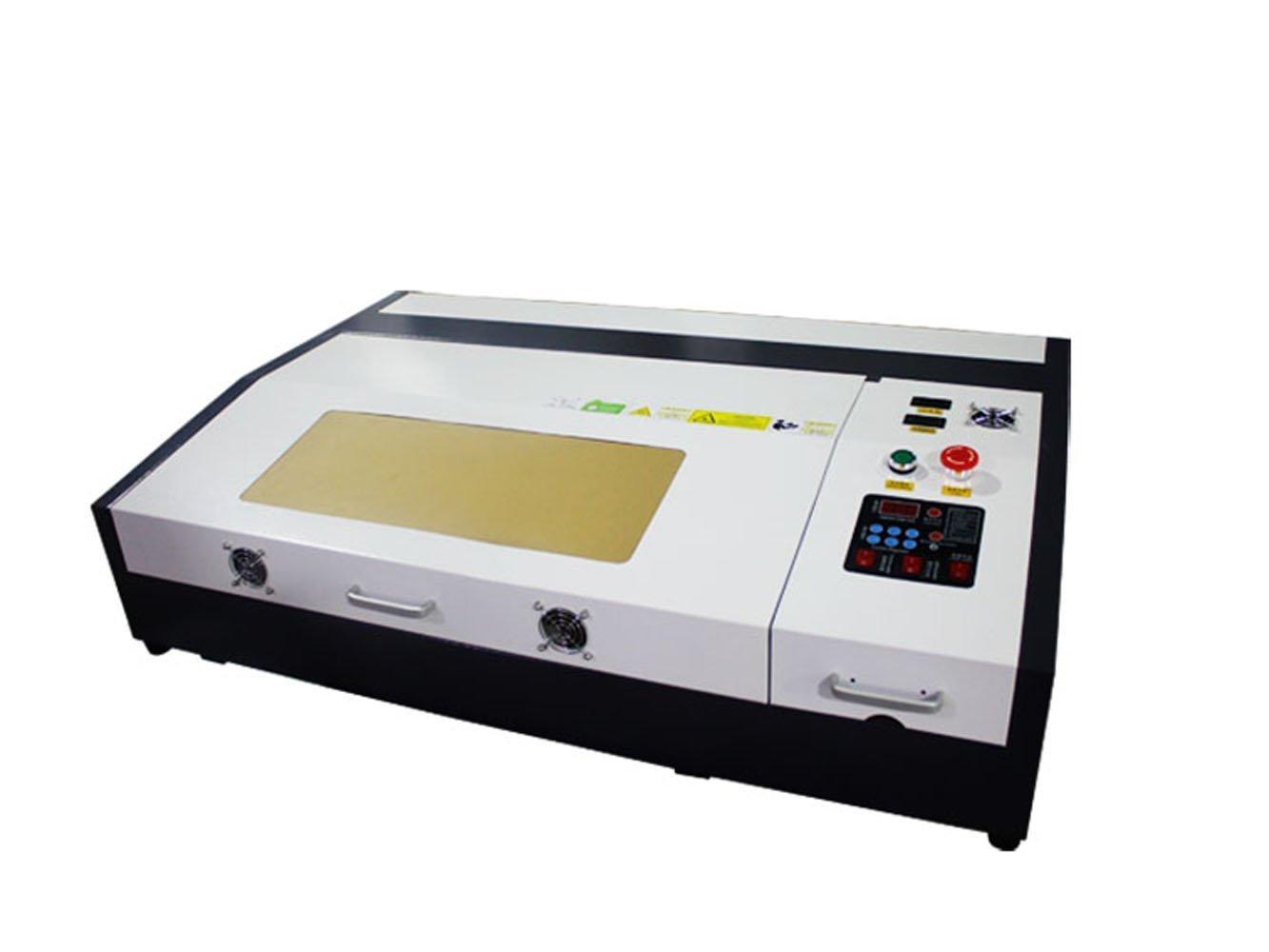 テンハイTEN-HIGH CO2レーザー彫刻機切断機 DIY加工機 400mm*600mm 50W 110V USBポート 必要な付属品一式フルセット B06XR67K41 50W