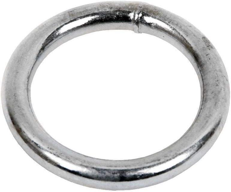 DOJA Industrial | Anillas de Metal Redondas Soldadas | PACK 25 | 3 x 20 mm | Anilla Metálica de Gran Calidad en el Punto de soldado | Ideal para elevación, empalmes, agriculutra e otros