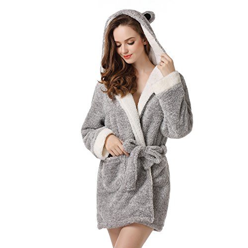 053b0902ad Richie House Women s Bathrobe Robe with Two Ears Uni Size for S-L ...