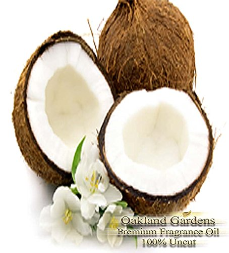 CARIBBEAN COCONUT Fragrance Oil - Tropical twist of coconut milk cool vanilla - By Oakland Gardens (Twist Drop Leaf)