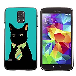GagaDesign Phone Accessories: Hard Case Cover for Samsung Galaxy S5 - Office Business Kitty Cat