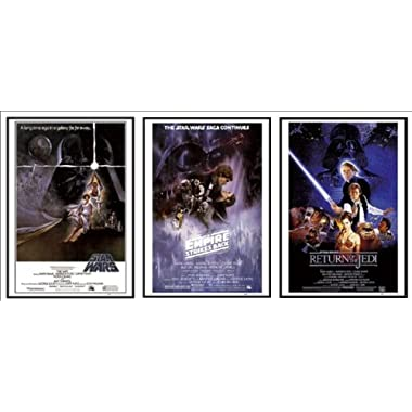 Dry Mounted Wood Framed Episode IV V VI Star Wars 3 Movie Posters Set Of Classic Posters 24x36