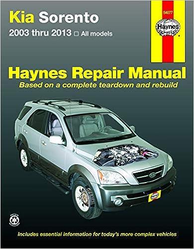Kia Sorento (03-13) Haynes Repair Manual (Haynes Automotive