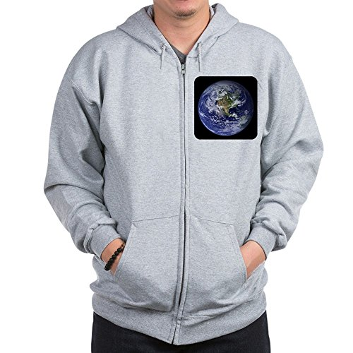 Royal Lion Zip Hoodie Planet Earth The World - 2X