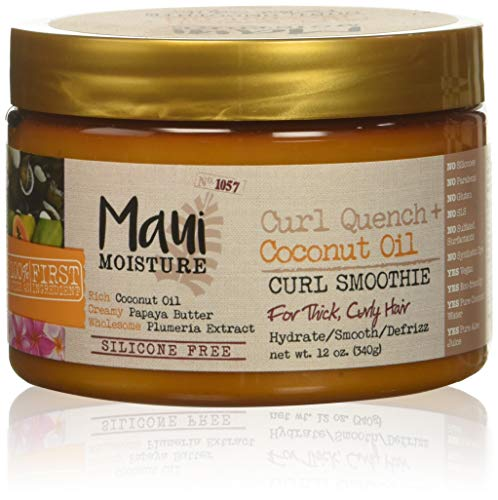(Maui Moisture Quench + Coconut Oil Curl Smoothie, 12 Ounce)