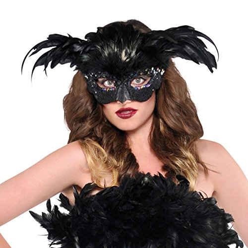 Raven Fantasy Feather Mask (Raven Mask)