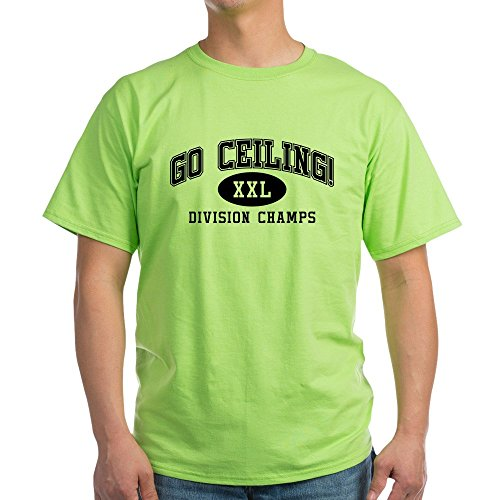 CafePress Go Ceiling XXL Division Champs 100% Cotton T-Shirt ()