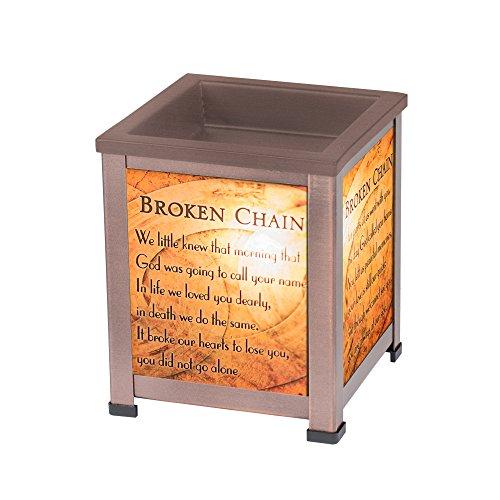 - Elanze Designs Broken Chain Copper Tone Metal Electrical Wax Tart and Oil Glass Lantern Warmer